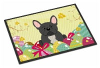 Easter Eggs French Bulldog Black Indoor or Outdoor Mat 18x27 - 18Hx27W