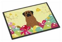 Easter Eggs Mastiff Brindle Indoor or Outdoor Mat 18x27