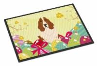 Easter Eggs Basset Hound Indoor or Outdoor Mat 18x27 - 18Hx27W