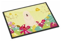 Easter Eggs South Russian Sheepdog Indoor or Outdoor Mat 18x27