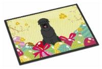 Easter Eggs Black Russian Terrier Indoor or Outdoor Mat 18x27 - 18Hx27W