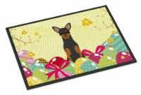 Easter Eggs Manchester Terrier Indoor or Outdoor Mat 18x27 - 18Hx27W