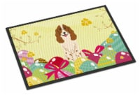 Easter Eggs Russian Spaniel Indoor or Outdoor Mat 18x27 - 18Hx27W