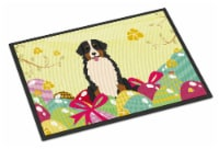Easter Eggs Bernese Mountain Dog Indoor or Outdoor Mat 18x27 - 18Hx27W