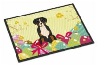 Easter Eggs Greater Swiss Mountain Dog Indoor or Outdoor Mat 18x27 - 18Hx27W