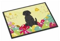 Easter Eggs Black Labrador Indoor or Outdoor Mat 18x27 - 18Hx27W