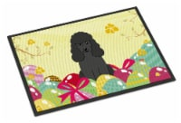 Easter Eggs Poodle Black Indoor or Outdoor Mat 18x27 - 18Hx27W