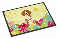 Easter Eggs Brittany Spaniel Indoor or Outdoor Mat 18x27 - 18Hx27W