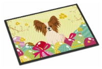Easter Eggs Papillon Red White Indoor or Outdoor Mat 18x27 - 18Hx27W