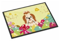 Easter Eggs Shih Tzu Red White Indoor or Outdoor Mat 18x27 - 18Hx27W