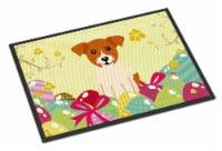 Easter Eggs Jack Russell Terrier Indoor or Outdoor Mat 18x27 - 18Hx27W