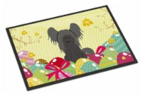 Easter Eggs Chinese Crested Black Indoor or Outdoor Mat 18x27 - 18Hx27W