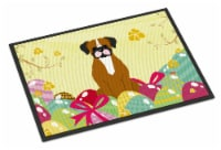 Easter Eggs Flashy Fawn Boxer Indoor or Outdoor Mat 18x27
