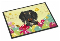 Easter Eggs Wire Haired Dachshund Dapple Indoor or Outdoor Mat 18x27 - 18Hx27W