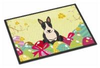 Easter Eggs Bull Terrier Black White Indoor or Outdoor Mat 18x27 - 18Hx27W
