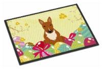 Easter Eggs Bull Terrier Red Indoor or Outdoor Mat 18x27 - 18Hx27W