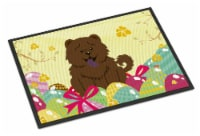 Easter Eggs Chow Chow Chocolate Indoor or Outdoor Mat 18x27 - 18Hx27W