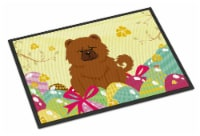 Easter Eggs Chow Chow Red Indoor or Outdoor Mat 18x27