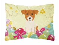 Easter Eggs Jack Russell Terrier Canvas Fabric Decorative Pillow