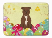 Easter Eggs Staffordshire Bull Terrier Chocolate Machine Washable Memory Foam Ma