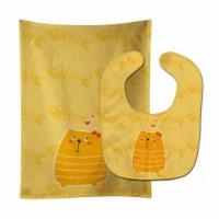 Carolines Treasures  BB6746STBU Fat Cat Love Baby Bib & Burp Cloth - 1