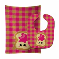 Carolines Treasures  BB6844STBU Jelly Toast Baby Bib & Burp Cloth - 1