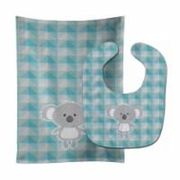 Carolines Treasures  BB7034STBU Koala Bear Baby Bib & Burp Cloth - 1
