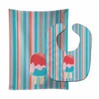 Ice Pop Popsicle Red Pink Blue Baby Bib & Burp Cloth