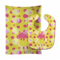 Ice Pop Popsicle Pink Yellow Baby Bib & Burp Cloth