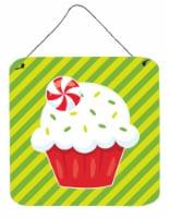 Christmas Pepermint Cupcake Wall or Door Hanging Prints - 6HX6W