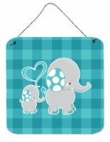 Mommy and Baby Elephant Wall or Door Hanging Prints