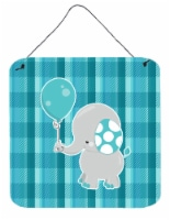 Elephant with Balloon Wall or Door Hanging Prints