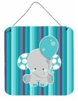 Grey Elephant with Balloon Wall or Door Hanging Prints