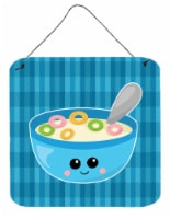 Carolines Treasures  BB6845DS66 Blue bowl of Cereal Wall or Door Hanging Prints - 6HX6W