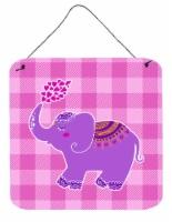 Carolines Treasures  BB7161DS66 Purple Elephant Wall or Door Hanging Prints