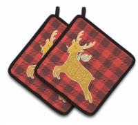 Carolines Treasures  BB6773PTHD Deer Pair of Pot Holders - Standard