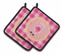 Carolines Treasures  BB7048PTHD Donut Face Pair of Pot Holders