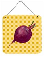 Beet Root on Basketweave Wall or Door Hanging Prints - 6HX6W