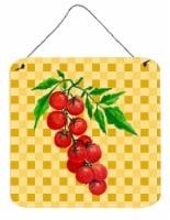 Cherry Tomato on Basketweave Wall or Door Hanging Prints - 6HX6W