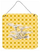 Oyster Mushrooms on Basketweave Wall or Door Hanging Prints - 6HX6W