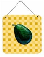 Whole Avacado on Basketweave Wall or Door Hanging Prints - 6HX6W