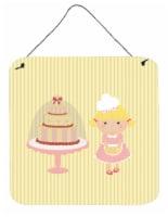 Cake Baker Blonde Yellow Wall or Door Hanging Prints - 6HX6W