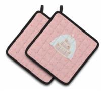 Carolines Treasures  BB7276PTHD Decorative Cake 3 Tier Pink Pair of Pot Holders - Standard