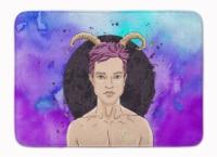 Capricorn Zodiac Sign Machine Washable Memory Foam Mat