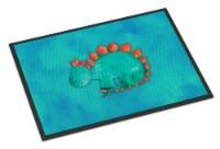Stegosaurus Watercolor Indoor or Outdoor Mat 24x36