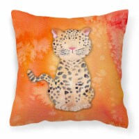 Carolines Treasures  BB7396PW1818 Leopard Watercolor Fabric Decorative Pillow - 18Hx18W
