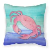 Carolines Treasures  BB7420PW1818 Crab Watercolor Fabric Decorative Pillow - 18Hx18W