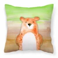 Carolines Treasures  BB7434PW1818 Bear Watercolor Fabric Decorative Pillow