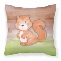 Carolines Treasures  BB7439PW1818 Squirrel Watercolor Fabric Decorative Pillow - 18Hx18W