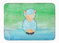 Sheep Lamb Watercolor Machine Washable Memory Foam Mat